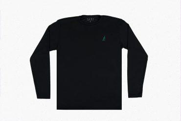 Black Long Sleeve Green Pine Shirt