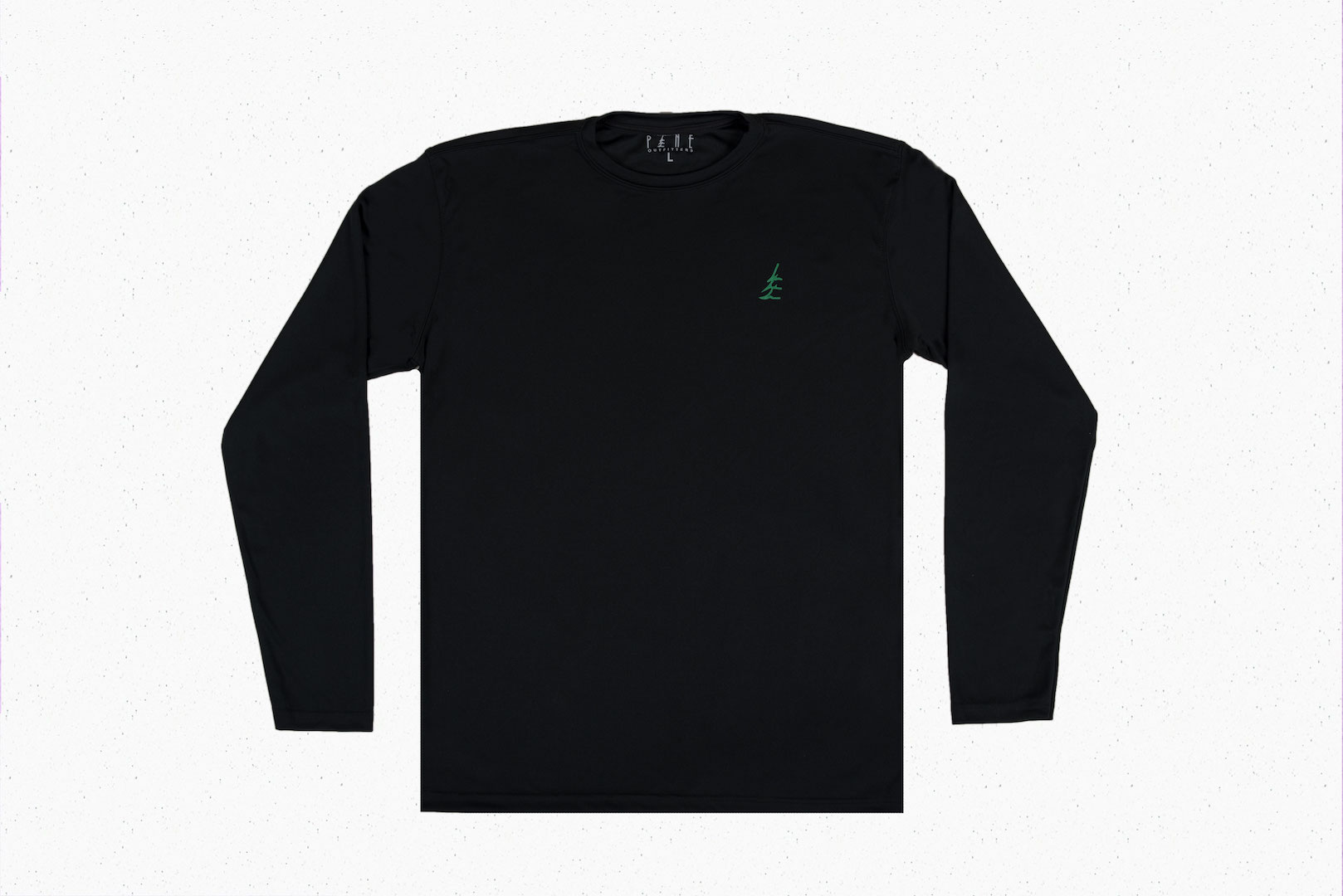 Black Long Sleeve Green Pine Shirt